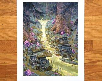 Amethyst Grove  - Fine Art Print by Nicole Gustafsson