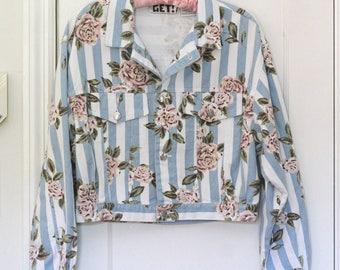 Super 90s Clarissa Explains it All Jacket Blossom denim floral