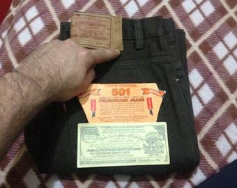 Brand New Levi's 501 Denim Jeans Brown W27 L34 Made In U.S.A 90's