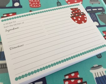 50 Double Sided 4x6 Kitchen Recipe Cards - Perfect for Kitchen Shower