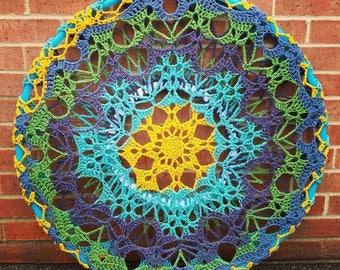 Crochet Ombre Snowflake Hoop Mandala