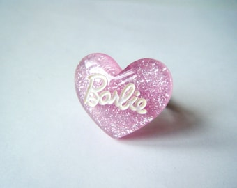 Heart - Barb ring * e - light pink