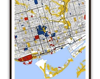 Toronto Map Art / Toronto, Canada Wall Art / Print / Poster / Modern  Home or Office Decor