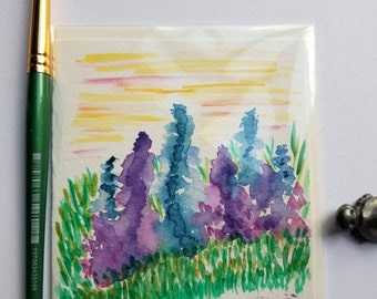 Watercolor and Ink Thank You Card