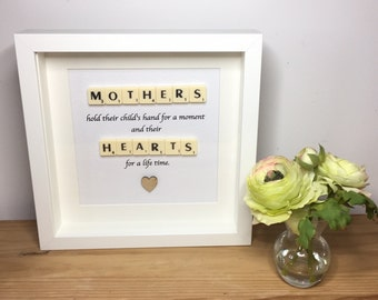 Scrabble wall art, Scrabble picture, Mothers Day gift, Personalised picture, Handmade picture