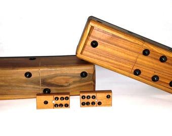 Wooden Dominoes Set Authentic Handmade Classic Design