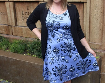 Haunted Mansion dress inspired by mortals, a haunted manor and hitchhiking ghosts / adult and kids sizes!