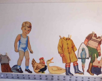 "On Clearance - Vintage 1943 ""Farmer Fred"" paper doll    Lowe #523  1943"