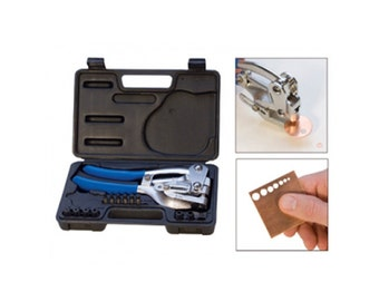 Eurotool EuroPower Punch Round Hole Pliers  Metal Punch, Strong Metal Hole Punch, Metal Smith Tools, Metal Supplies, INV2004