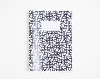 Handmade - black soldier printed A5 notebook