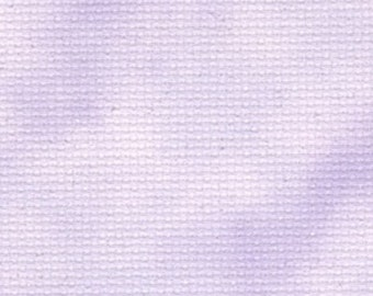 Fabric Flair 14 count Cloud Lilac Aida with Sparkles - piece approx 45 x 50cm. Beautiful fabric for cross stitch
