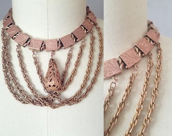 Versi festoon necklace | antique 1800s necklace | victorian bookchain necklace