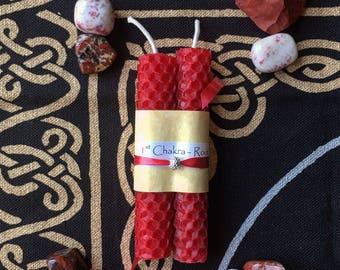 1st Root Chakra Healing Candle