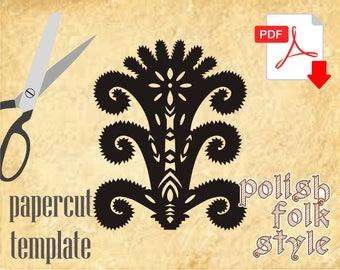 Folk papercuts template from Poland