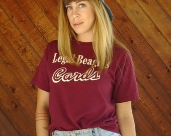Maroon Baseball Team Uniform Tee Shirt T - Vintage 90s - XS S