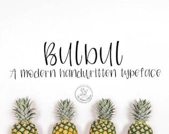 Bulbul   A Modern Handwritten Typeface
