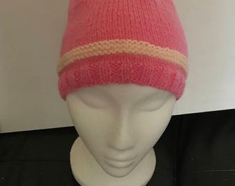 Ladies Pink Beanie Hat