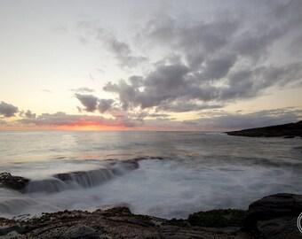South Coast Sunrise, Sunrise Photography, Fine Art photography, Sunrise Photography,Misty Sea Photography,Australia, Grey Pink black & white