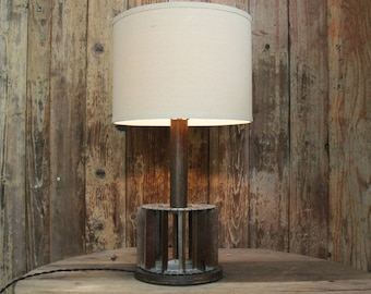 Repurposed Bun Divider Lamp