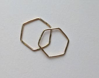 Gold filled hexagon ring