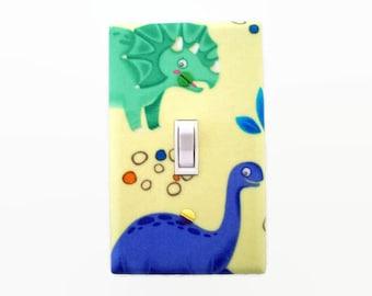 Dinosaur Light Switch Cover - Girls Dinosaurs Switch Plate Cover - Boys Dinosaur Bedroom - Dinosaur Nursery - Green Purple Dinosaur Room