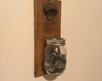 Mason Jar Bottle Cap Opener/Collector