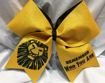 remember who you are - Lion King-Broadway TEXAS/CHEER LARGE Size Glitter Bow