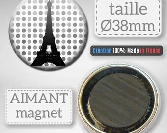 Paris France Eiffel Tower Capital gift 38 mm Badge magnet magnet