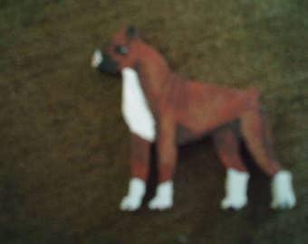 Boxer dog pin custom