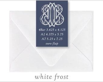 White Frost | 10 Blank Euro Envelopes | A7 • A2 • RSVP