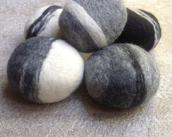 5 SOAPS gift SET,  felted soap, gift set, pure wool covered Soaps, smooth and tactile,