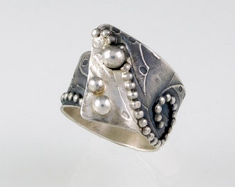 Oxidized Sterling Silver Band Ring