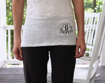 Monogrammed t-shirt, embroidered t-shirt, Monogrammed Gift