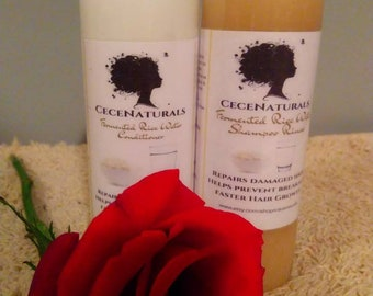 Fermented Rice Water Shampoo Rinse & Conditioner| Growth Shampoo | Growth Conditioner| Damage Repair| Moisturizer|