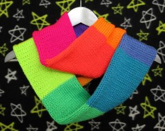 Neon Rainbow Infinity Scarf - Neurodiversity - Pride - LGBT