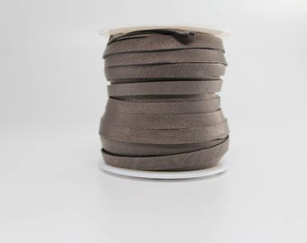 3/16 Inch 5MM Spool of Gray Deerskin Leather Lace 50ft Roll ( Silver Charcoal Grey )