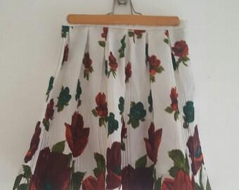 Falda tableada vintage pleats skirt 60's