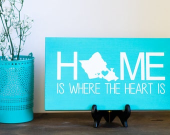 Modern Bohemian Decor - Wood Sign - Bohemian Decor - Painting with Quote - Home is Where the Heart is