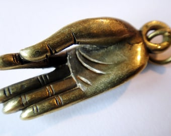 Hand of Buddha Brass Charm