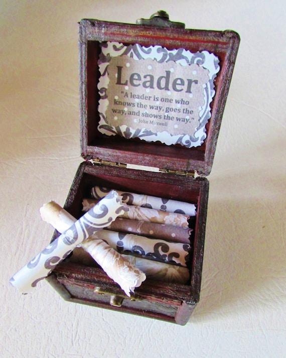 Leadership Gift Boss Gift Boss Scroll Box Boss Day Leadership Quote Boss Birthday Boss Christmas Coworker Gift Leadership Gift Idea Boss