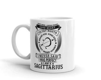 Sagittarius Astrology dirty mind caring friend filthy mouth smart ass kind soul sweet sinner humble never said i was perfect coffee mug