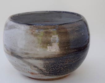 small black and white bowl