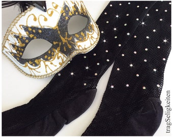 Black fishnet tights, professional dance tights, rhinestones, crystal tights, diamantes, Jazz dance, tap dance, performance