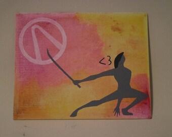 Crayon art ( 8 x 10 Canvas): Zero