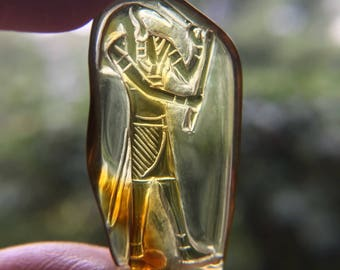 Amber Thoth Carving