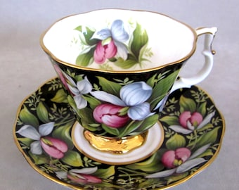 Royal Albert  PROVINCIAL FLOWERS Lady's Slipper Cup & Saucer