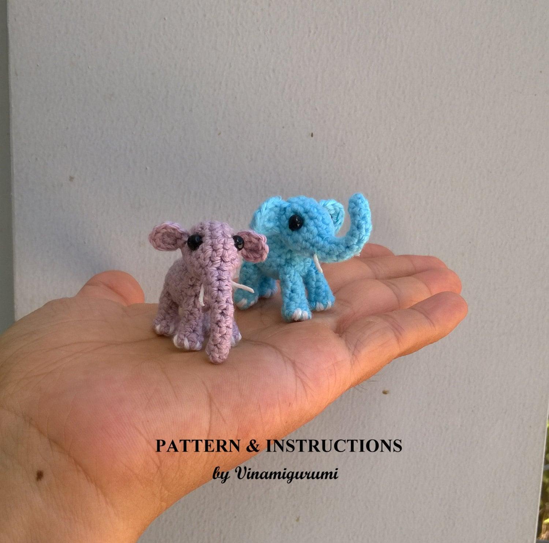 Kleine Elefanten, Miniatur-Amigurumi, Mikro Tiere Häkelanleitung ...