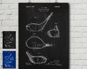 Golf ball blueprint etsy golf club 1925 patent print golf clubs us open golf gift vintage malvernweather