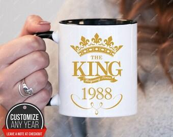 King since 1988, 30th birthday 30th birthday gifts for women, 1988 birthday gift, 30th birthday mug for mens, 30th birthday , mug Birthday