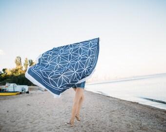 Bohemian Beach Throw Beach Towel Round Bohemian Beach Sheet Mandala Throw Round Beach Blanket Circle Beach Towel